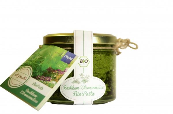 Basilikum-Zitronenmelisse Bio-Pesto